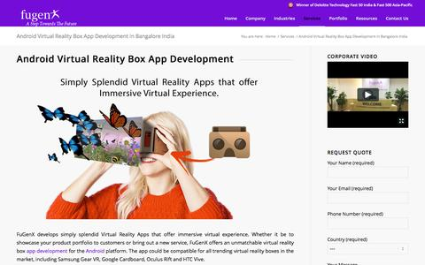 Android Virtual Reality Box App Development in Bangalore India