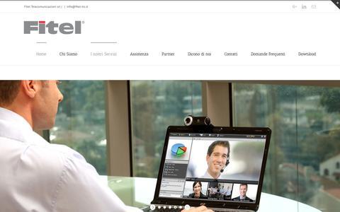 Screenshot of Home Page fitel-tlc.it - Centralini Telefonici VoIP Telefonia Telecomunicazioni Firenze Roma - captured Oct. 10, 2018