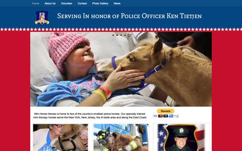 Screenshot of Home Page therapy-horse.org - Mini Horse Heroes - miniature therapy horses - captured Oct. 15, 2018