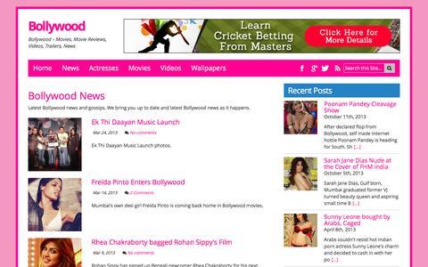 Screenshot of Press Page bollywood.lv - Bollywood News - captured April 9, 2017