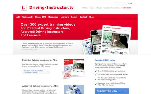 Screenshot of Home Page driving-instructor.tv - Support for driving instructors and become a instructor - captured Sept. 10, 2015