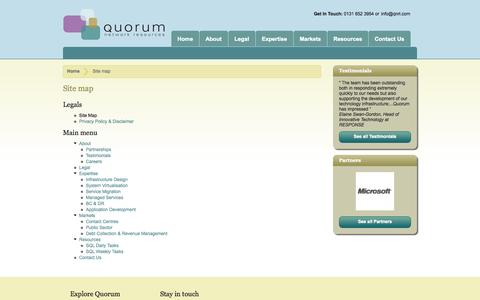 Screenshot of Site Map Page qnrl.com - Site map   Quorum Network Resources - captured Oct. 3, 2014