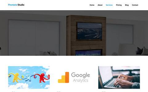 Screenshot of Services Page thesmartdigital.com - Promote-Digital marketing agency - captured Sept. 26, 2018