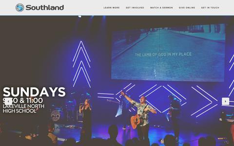 Screenshot of Home Page southlandcity.com - Southland City Church - captured Aug. 15, 2015