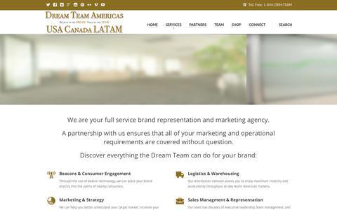 Screenshot of Services Page dreamteamamericas.com - Our Services | Dream Team Canada & USA - captured Oct. 13, 2017