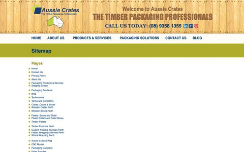 Screenshot of Site Map Page aussiecrates.com.au - Sitemap | Aussie Crates Packaging Pages - captured Oct. 4, 2018