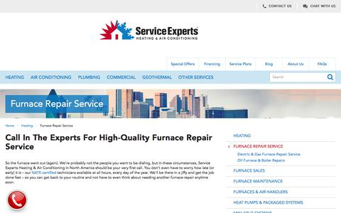 North America Furnace Repair Service | Service Experts
