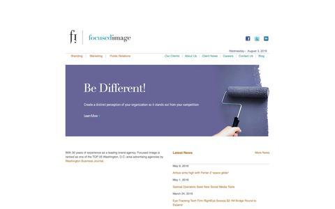 Screenshot of Home Page focusedimage.com - Focused Image | Brand Agency | Brand Design - captured Aug. 4, 2016