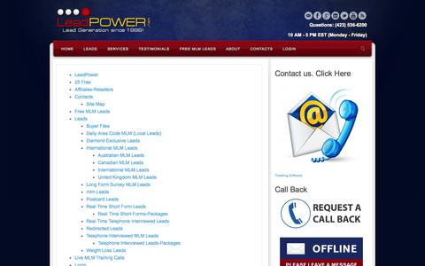 Screenshot of Site Map Page leadpower.net - Site Map - LeadPower | LeadPower - captured Nov. 1, 2014