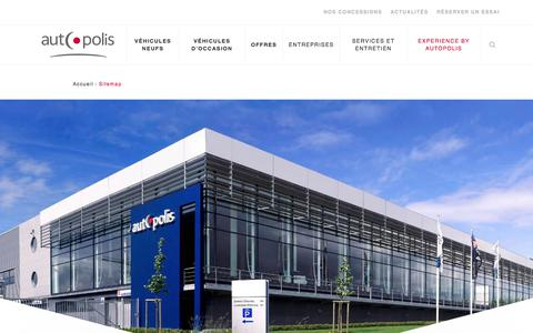 Screenshot of Site Map Page autopolis.lu - Sitemap | Autopolis - captured July 31, 2018
