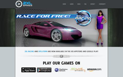 Screenshot of Home Page 2xlgames.com - 2XL Games | Welcome to 2XL Games! - captured Jan. 25, 2015
