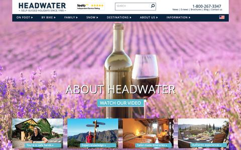 Screenshot of About Page headwater.com - About Headwater Holidays - captured Sept. 27, 2018