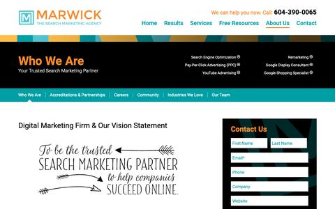 Screenshot of About Page marwickmarketing.com - About Marwick Marketing - Your Digital Marketing Firm - captured June 17, 2019