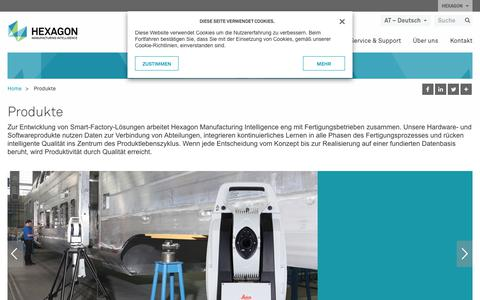 Screenshot of Products Page hexagonmi.com - Produkte | Hexagon Manufacturing Intelligence - captured Nov. 25, 2017