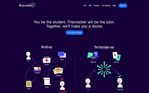 Screenshot of Home Page firecracker.me - Firecracker - Learn Faster, Remember Everything - captured Nov. 10, 2015