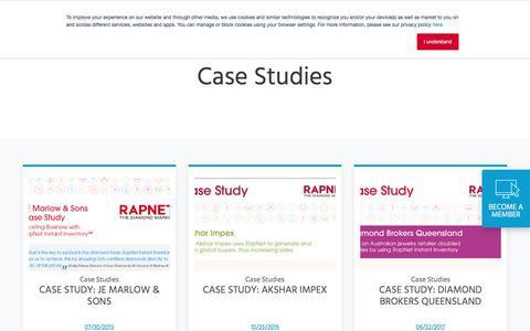 Screenshot of Case Studies Page rapnet.com - Case Studies | RapNet - captured Sept. 22, 2018