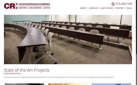 Screenshot of Case Studies Page commercialresourceinstallation.com - Projects – Commercial Resource Installation | Houston, TX - captured May 20, 2017