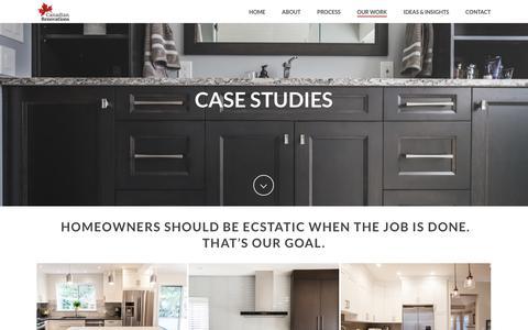 Screenshot of Case Studies Page canadianrenovations.com - CASE STUDIES - Canadian Renovations | Home Renovations Metro Vancouver - captured Dec. 13, 2018