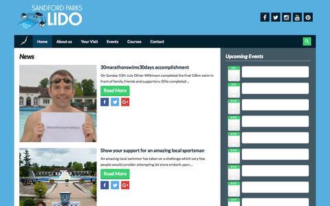 Screenshot of Press Page sandfordparkslido.org.uk - » News - captured July 22, 2016
