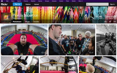 Screenshot of Flickr Page flickr.com - Flickr: Florida Supercon's Photostream - captured Oct. 22, 2014