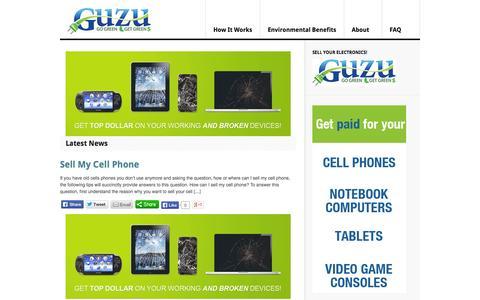 Screenshot of Blog guzu.com - Guzu.com - captured Sept. 16, 2014