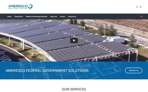 Ameresco Federal Energy Efficiency and Resiliency Solutions
