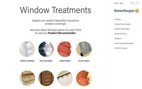 Window Treatments - Blinds & Shades | Hunter Douglas