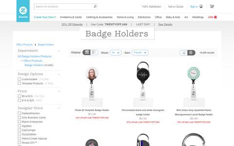 Badge Holders | Zazzle
