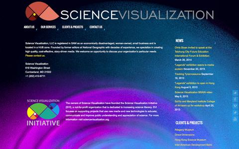 Screenshot of Contact Page sciencevisualization.com - Contact Us   - - captured Oct. 4, 2014