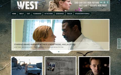 Screenshot of Home Page west-film.com captured Sept. 21, 2015