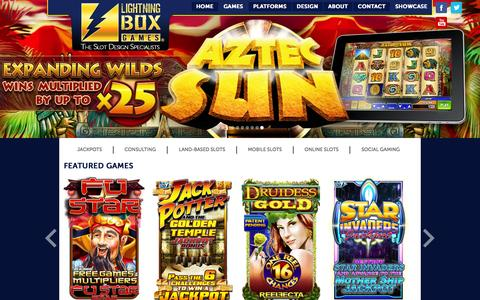 Screenshot of Contact Page lightningboxgames.com - Lightning Box Games - The Slot Design Specialists - captured Oct. 2, 2014