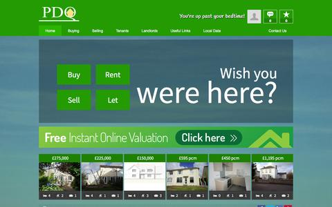 Screenshot of Home Page pdq-estates.co.uk - PDQ Estates -  Estate Agents, Helston Cornwall - captured Jan. 22, 2016
