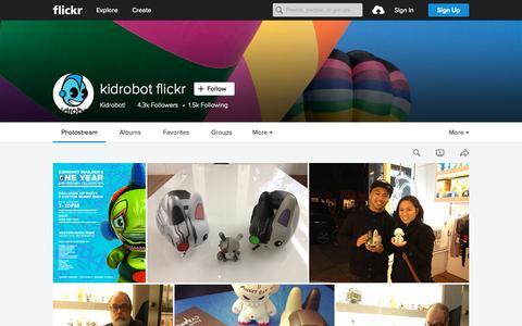 Screenshot of Flickr Page flickr.com - kidrobot flickr | Flickr - Photo Sharing! - captured Oct. 1, 2015