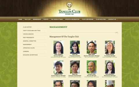 Screenshot of Team Page tanglinclub.org.sg - MANAGEMENT  | The Club - captured Oct. 9, 2014