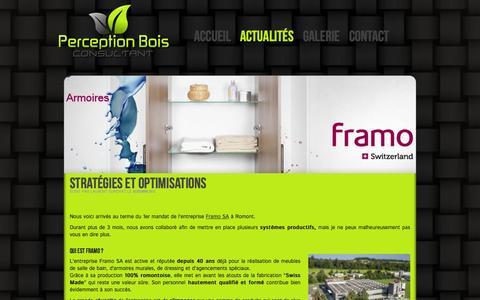 Screenshot of Blog perceptionbois.ch - Perception Bois Consultant - Actualités - captured Oct. 2, 2014