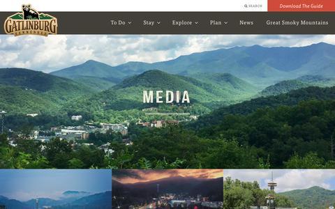 Screenshot of Press Page gatlinburg.com - Media   Gatlinburg, TN - captured Sept. 23, 2018