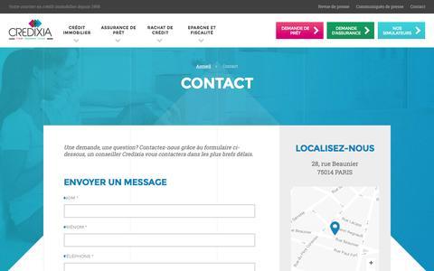Screenshot of Contact Page credixia.com - Contact - CREDIXIA - captured July 10, 2016