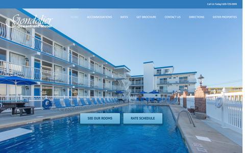 Screenshot of Home Page gondolier.com - Gondolier Resort - captured June 19, 2016