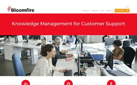 Screenshot of Support Page bloomfire.com - Knowledge Sharing Tools for Customer Support | Bloomfire - captured Oct. 15, 2017