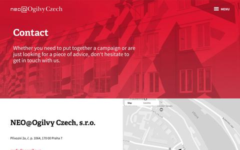 Screenshot of Contact Page neoogilvy.cz - Ogilvy NEO - captured Oct. 23, 2017