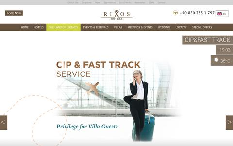 Screenshot of Home Page rixos.com - RIXOS HOTELS - captured Aug. 11, 2019