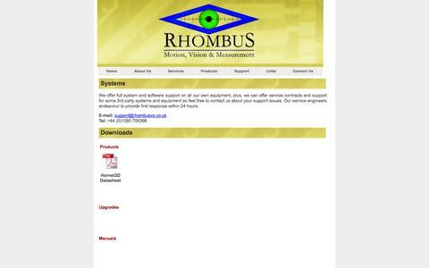 Screenshot of Support Page rhombusvs.co.uk - Rhombus VS Ltd. - captured Oct. 7, 2014