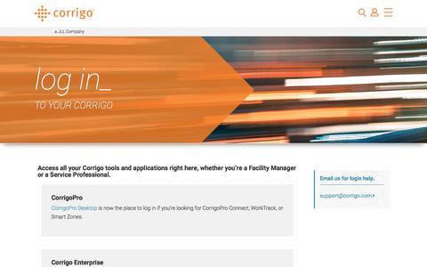 Log In | corrigo.com