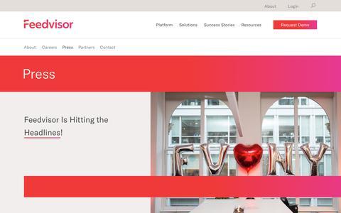 Screenshot of Press Page feedvisor.com - Press – Feedvisor - captured Oct. 8, 2018