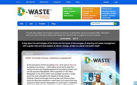 Screenshot of Blog d-waste.com - D-Waste - Blog - captured Dec. 5, 2015