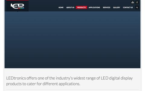 Screenshot of Products Page ledtronics.com.my - LEDtronics Malaysia :: LED Display, Digital Billboard, LED Video Display, LED Acrylic Letters, Scoreboards, VMS           Products - captured Oct. 1, 2014