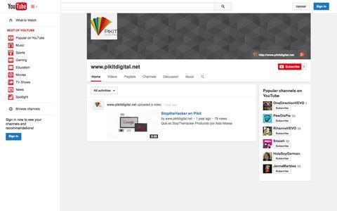 Screenshot of YouTube Page youtube.com - www.pikitdigital.net  - YouTube - captured Oct. 22, 2014