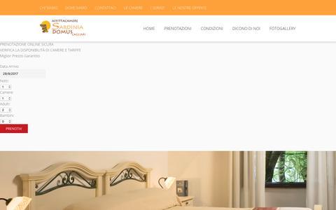 Screenshot of Menu Page sardiniadomus.it - Bed & Breakfast B&B Cagliari Centro│Affittacamere SARDINIA DOMUS - captured Sept. 29, 2017