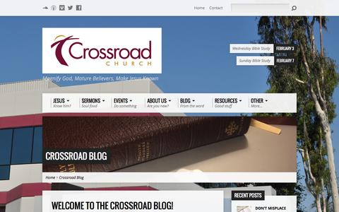 Screenshot of Blog crossroadoc.org - Crossroad Blog - CrossroadOC.org - captured Feb. 1, 2016