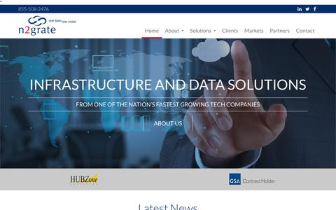 Screenshot of Home Page n2grate.com - IT Consultant   Nationwide IT Consulting   n2grate : n2grate - captured Sept. 20, 2018